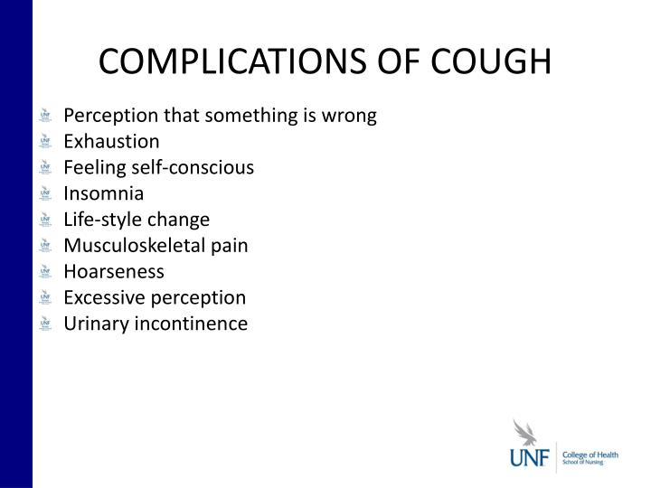 COMPLICATIONS OF COUGH
