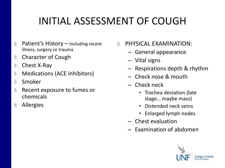 INITIAL ASSESSMENT OF COUGH