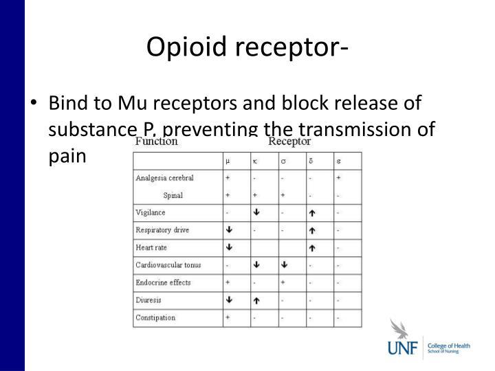 Opioid receptor-