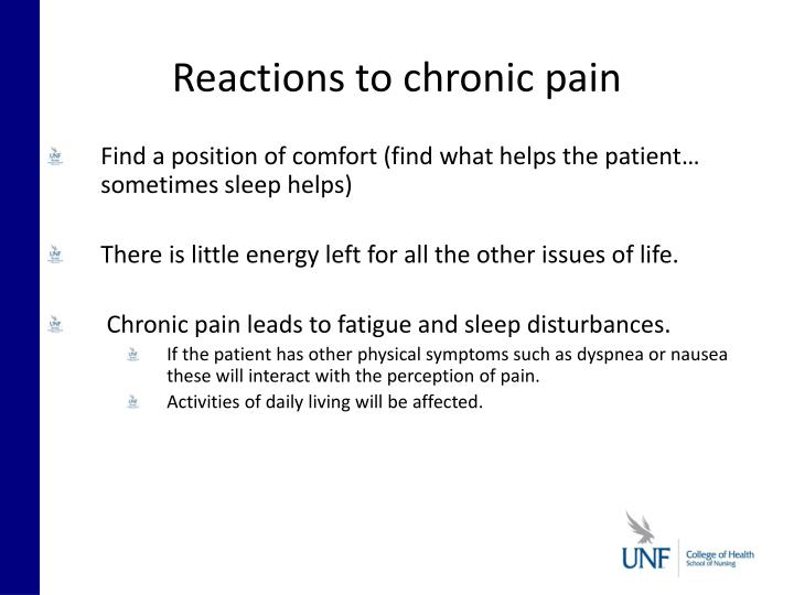 Reactions to chronic pain