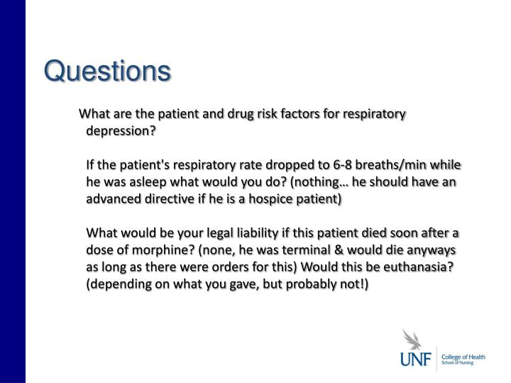 What are the patient and drug risk factors for respiratory depression?