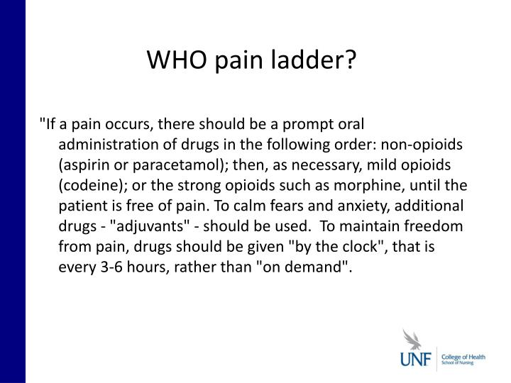 WHO pain ladder?