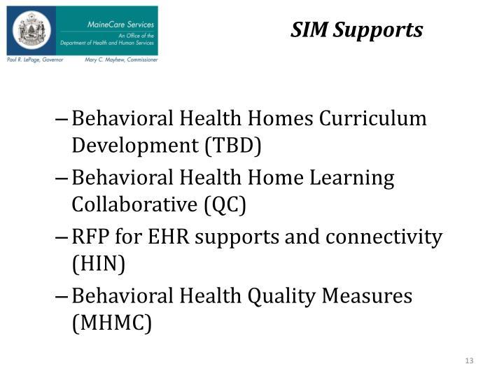 SIM Supports