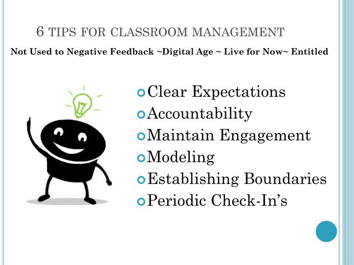 6 tips for classroom management