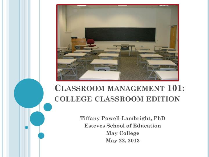 Classroom management 101 college classroom edition