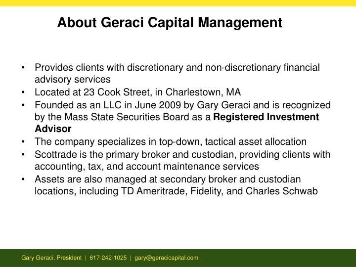 About Geraci Capital Management