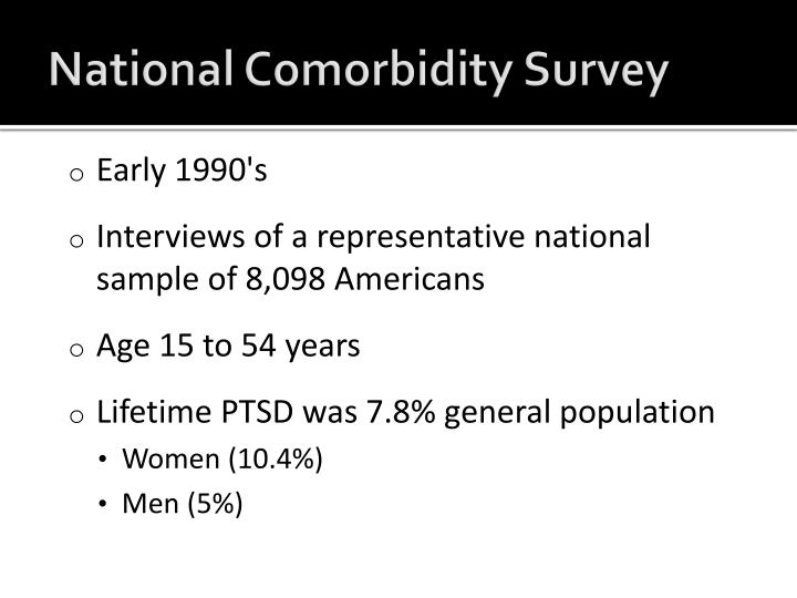 National Comorbidity Survey