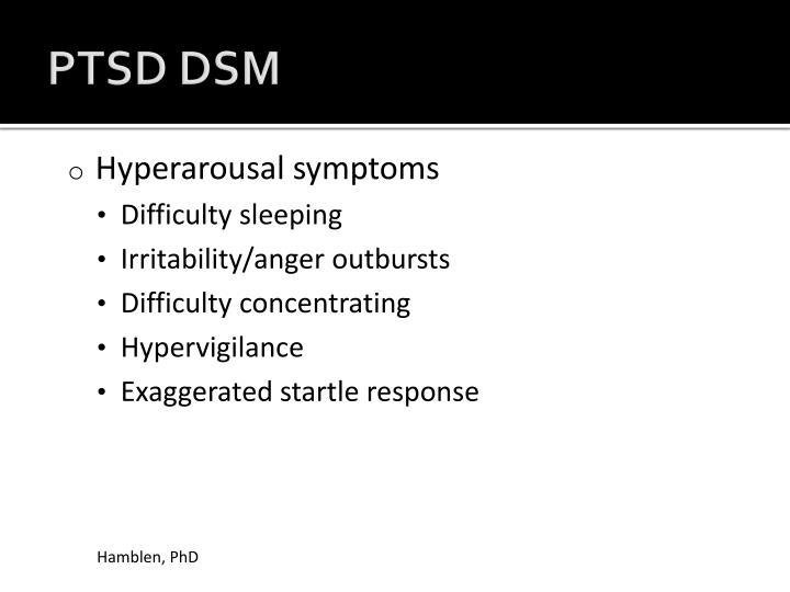 PTSD DSM