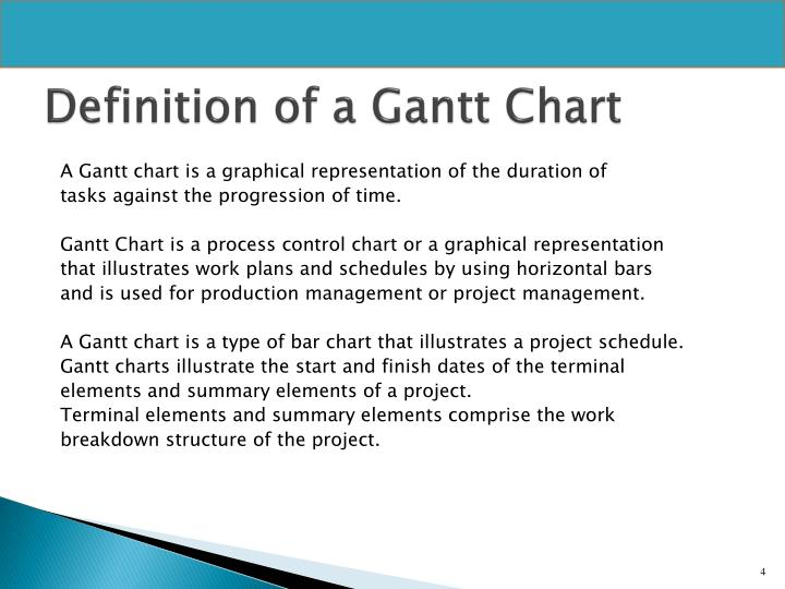 Definition of a Gantt Chart