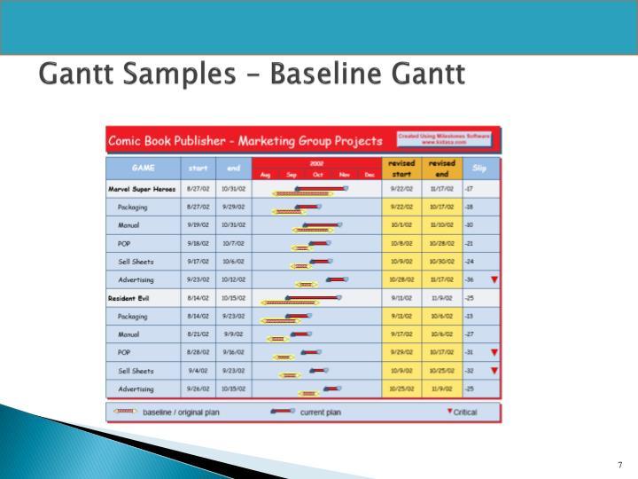 Gantt Samples – Baseline Gantt