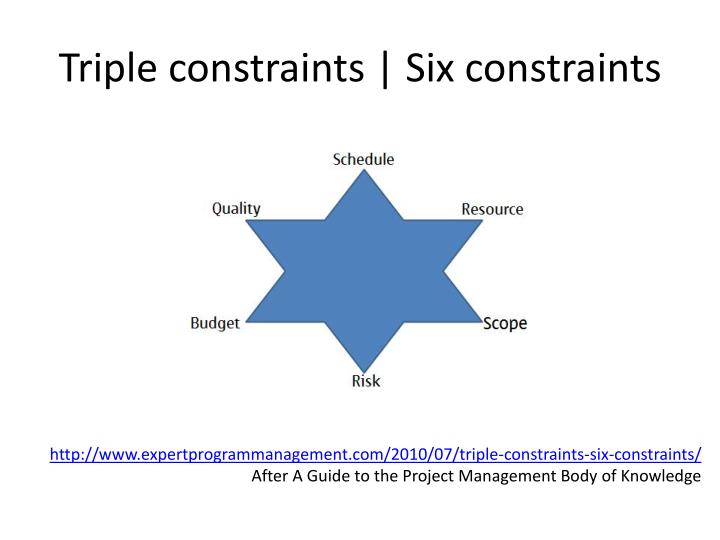 Triple constraints | Six constraints