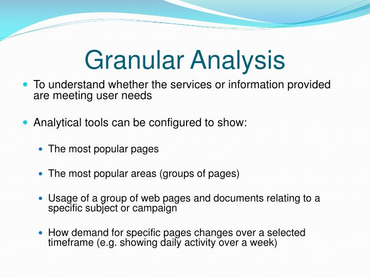 Granular Analysis