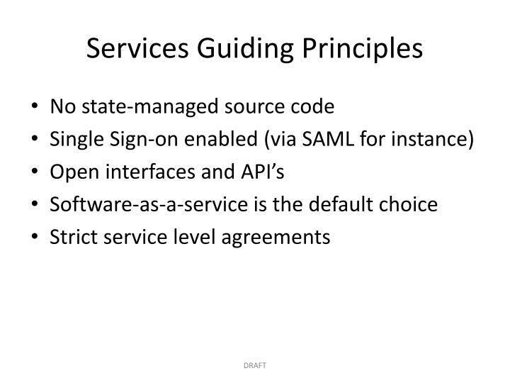 Services Guiding Principles
