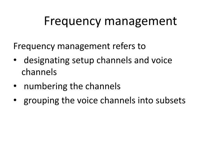 Channel allocation schemes