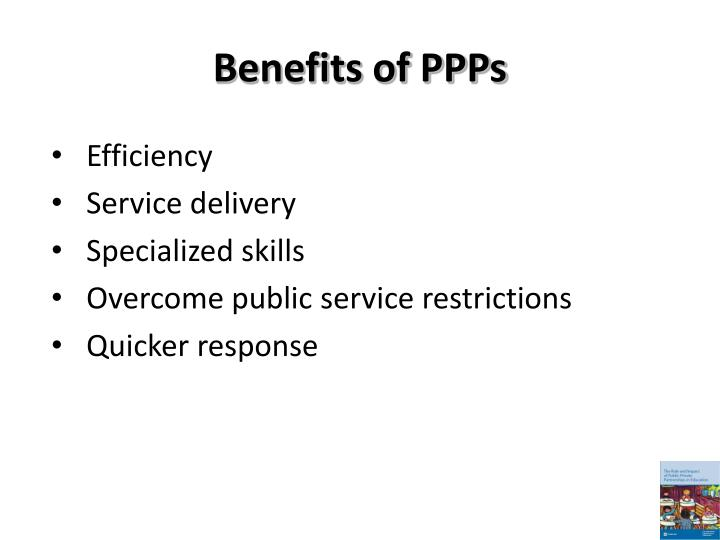 Benefits of PPPs