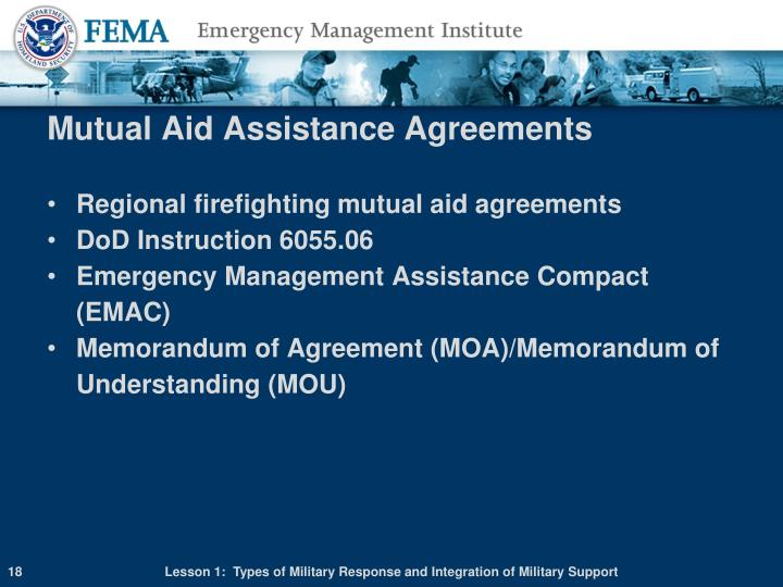 Mutual Aid Assistance Agreements