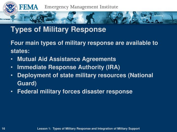 Types of Military Response