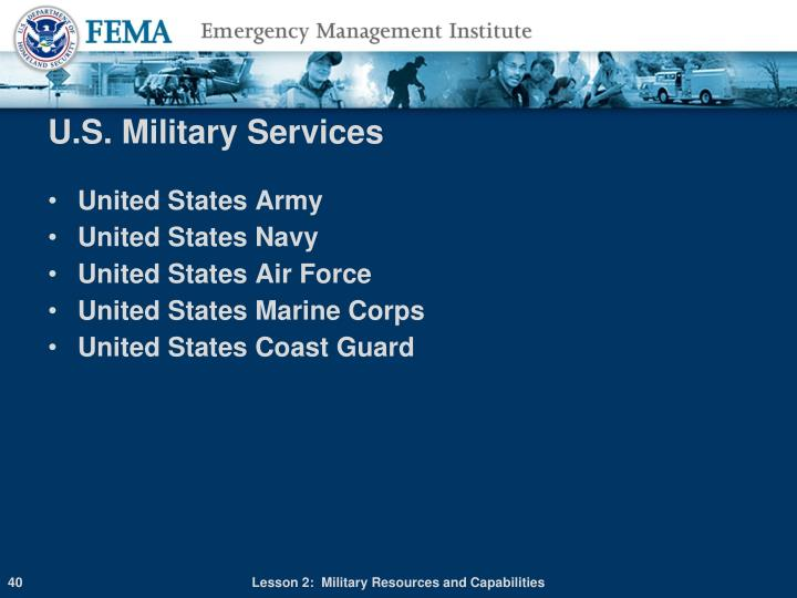 U.S. Military Services