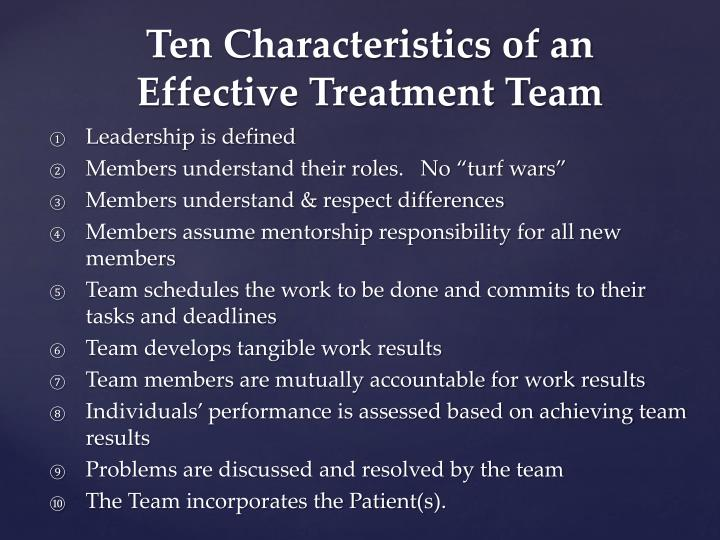 10 traits of a good team Ten qualities of an effective team player  good team players, despite differences they may have with other team members concerning style and perspective,.