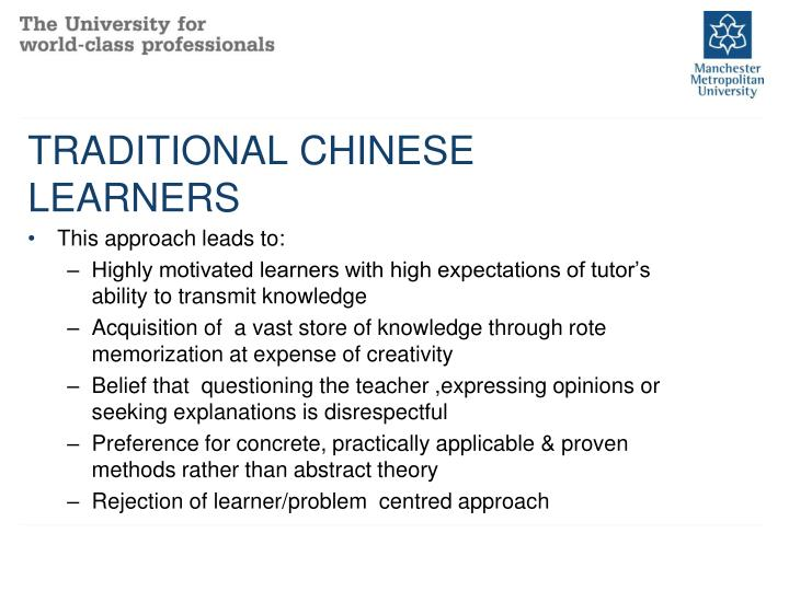 TRADITIONAL CHINESE LEARNERS