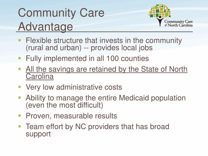 Community Care Advantage
