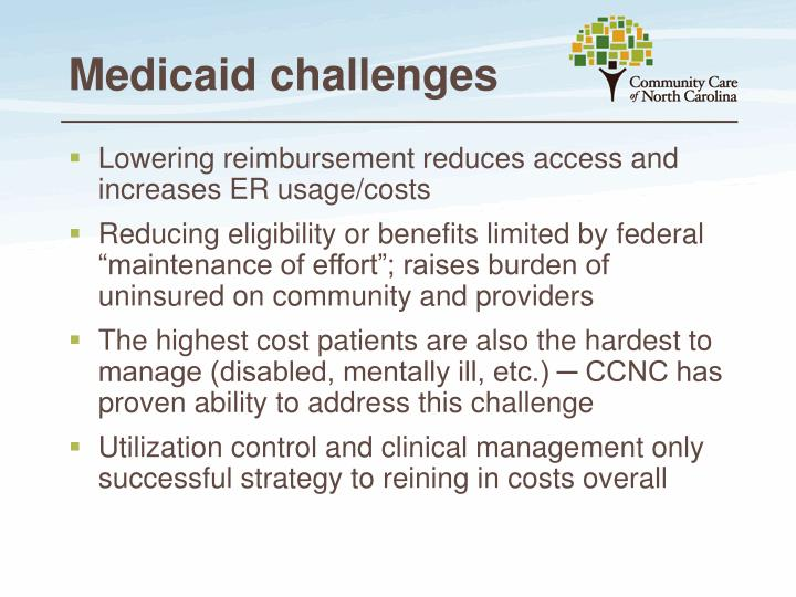 Medicaid challenges