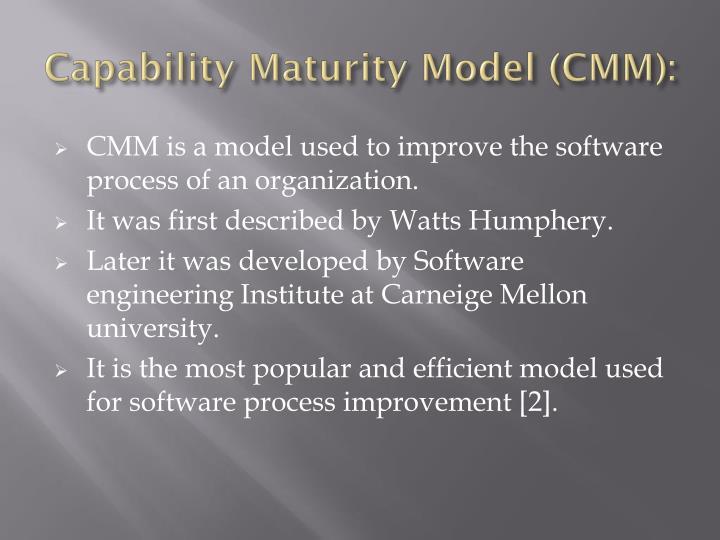 Capability Maturity Model (CMM):
