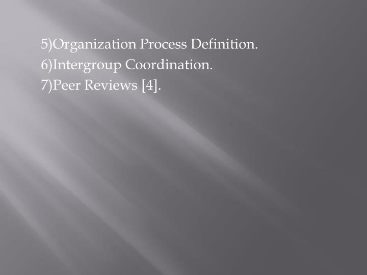 5)Organization Process Definition.