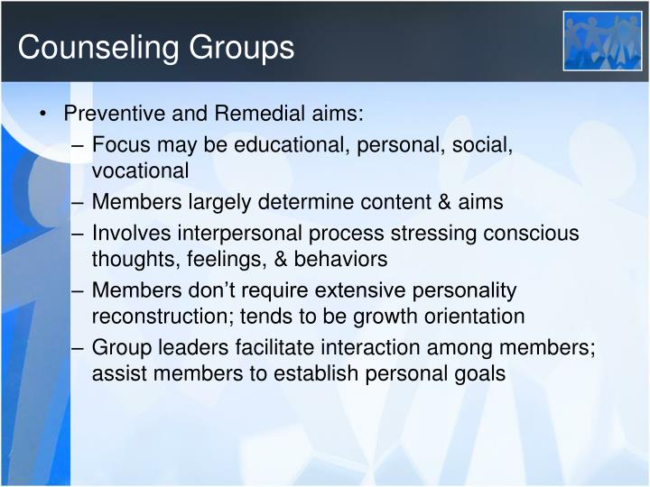 Counseling Groups