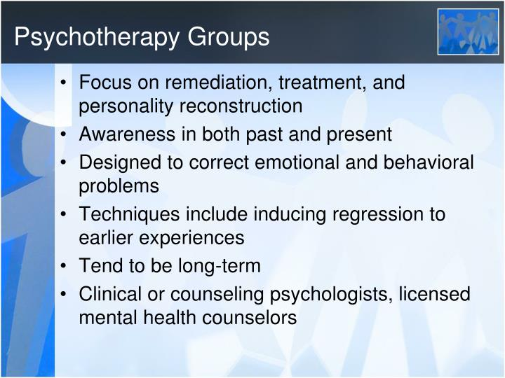 Psychotherapy Groups