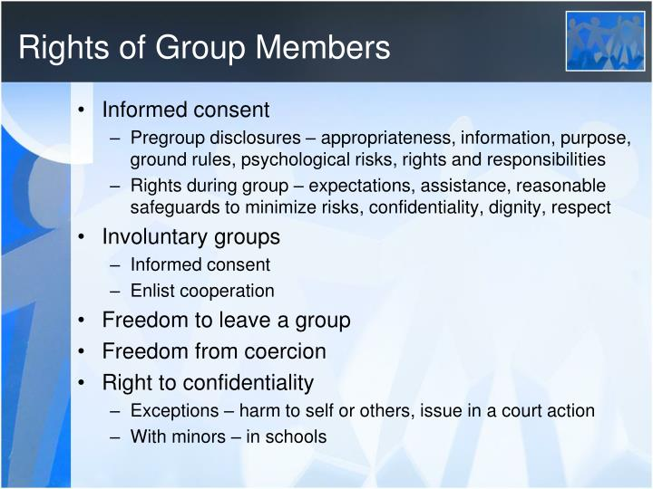Rights of Group Members
