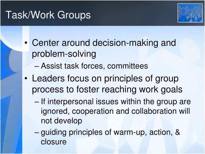 Task/Work Groups