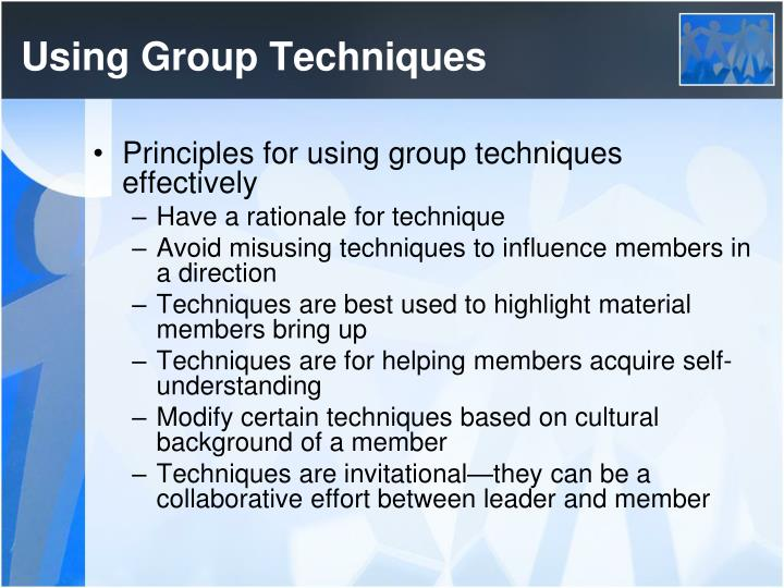Using Group Techniques