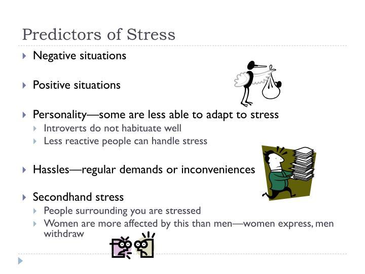 Predictors of Stress