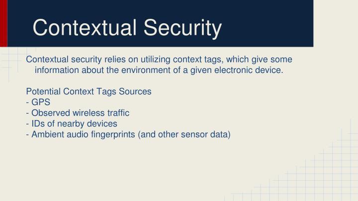Contextual Security