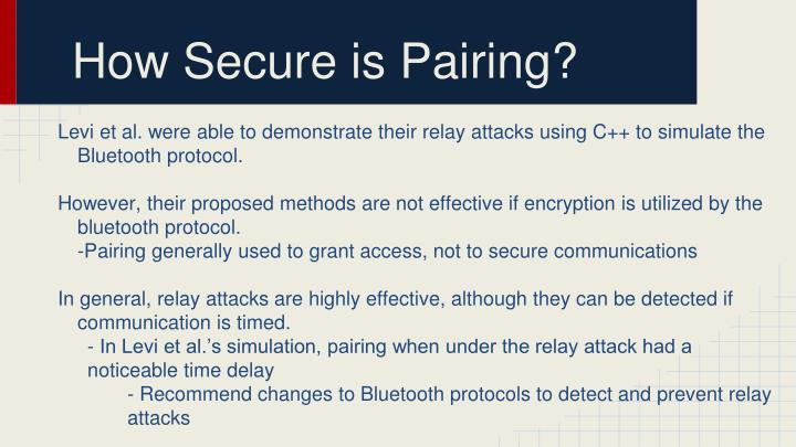 How Secure is Pairing?