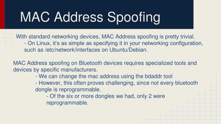 MAC Address Spoofing