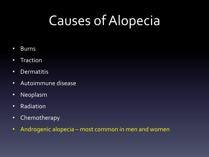 Causes of alopecia