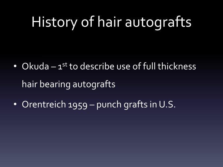 History of hair