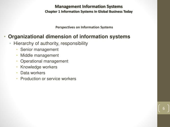 Organizational dimension of information systems