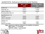 a4001078 adverse events and safety