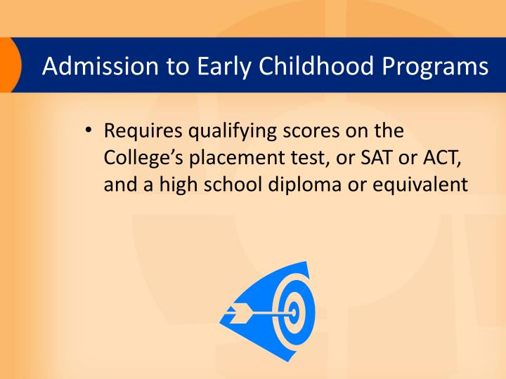 Admission to Early Childhood Programs