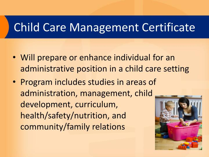 Child Care Management Certificate