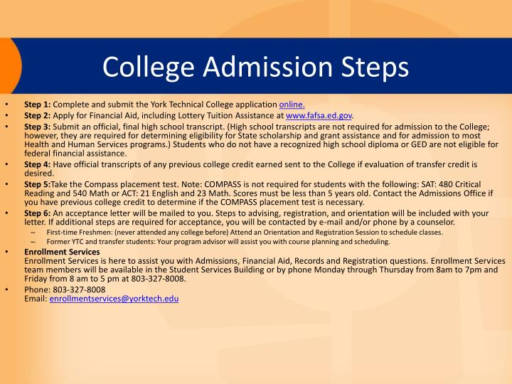 College Admission Steps