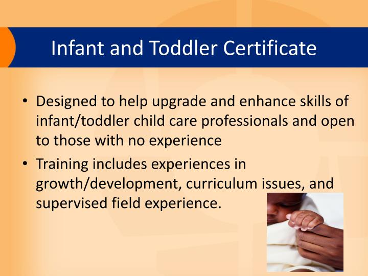 Infant and Toddler Certificate