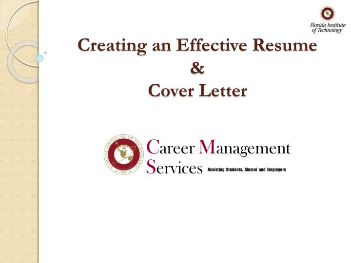 Creating an effective resume cover letter