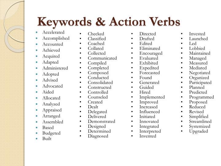 Keywords & Action Verbs