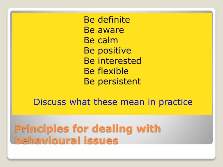 Be definite