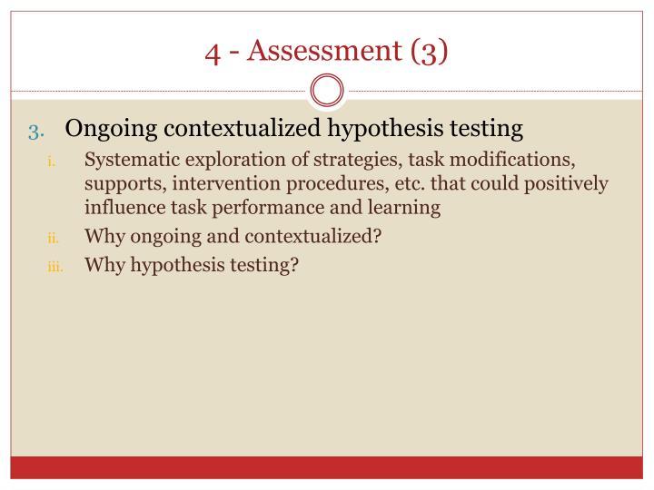 4 - Assessment