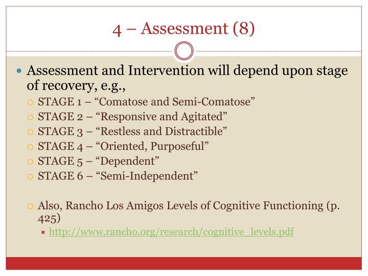 4 – Assessment (8)